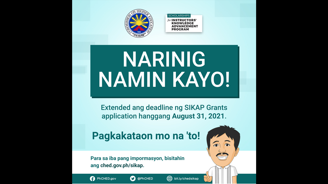 SIKAP extended August 31 2021
